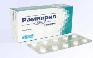 Инструкция по применению Рамиприла при каком давлении показан препарат, противопоказания, правила выбора дозы, взаимодействие с лекарствами