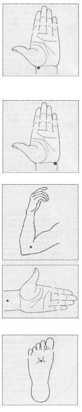 Точечный массаж при тахикардии